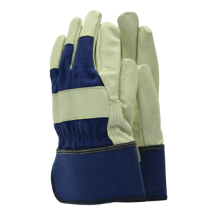 Washable Leather Rigger Navy