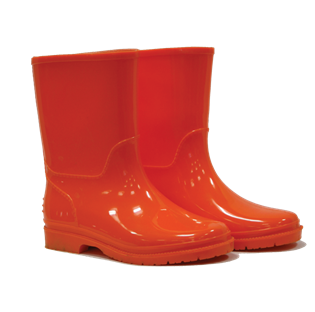 Kids Wellington Boots Orange
