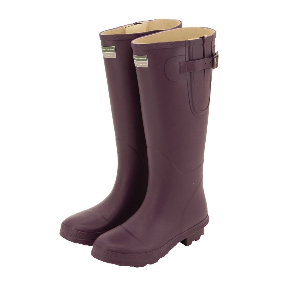 Bosworth Wellington Boots Aubergine