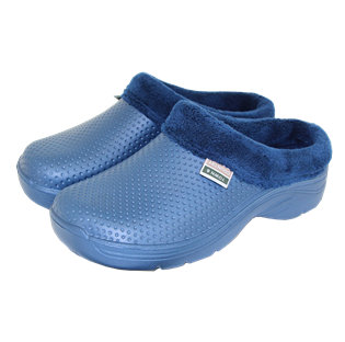 Fleecy Cloggies Navy