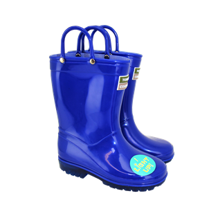 Kids Light Up Wellies Blue