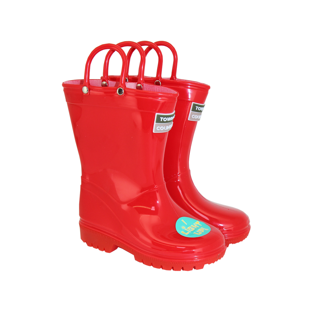 Kids Light Up Wellies Red Size 7 | Town