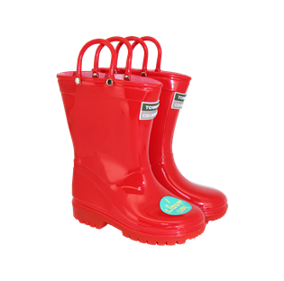 Kids Light Up Wellies Red
