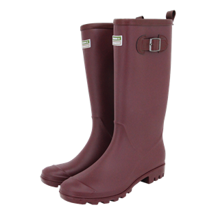 Burford Wellington Boot Aubergine