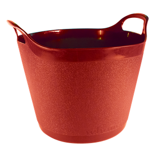 Round Flexi-Tub Scarlet Red
