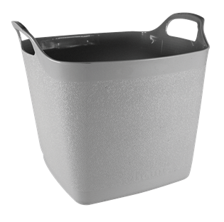 Square Flexi-Tub Soft Grey